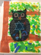 student work, owls