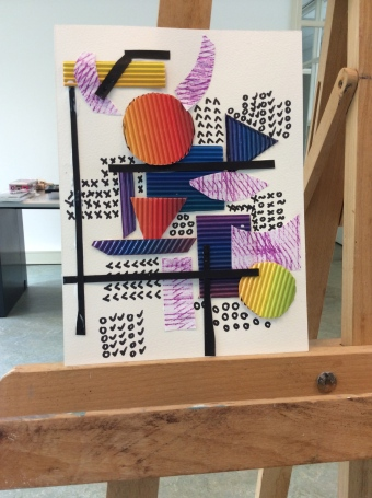 Finish with horizontal and vertical lines