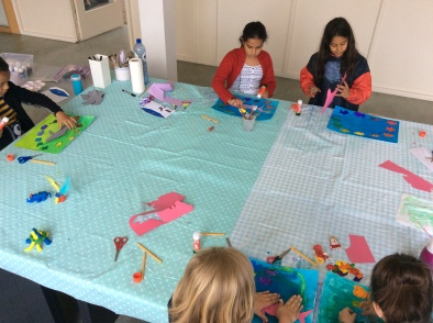 making kid's colour wheels